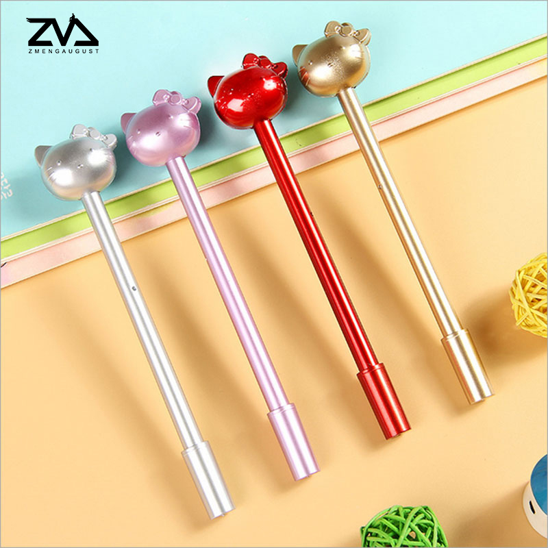 4pcs/lot Creative Gel Pen Metallic Pole Cat Cute stationery  canetas material escolar office school supplies papelaria