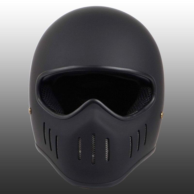 Image 2 - VCOROS Japanese TT CO full face motorcycle helmet fibe glass motorbike helmet Ghost Rider vintage racing locomotive moto helmet-in Helmets from Automobiles & Motorcycles
