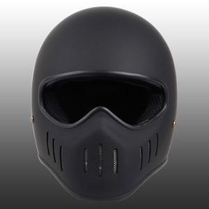 Image 2 - VCOROS Japanese TT CO full face motorcycle helmet fibe glass motorbike helmet Ghost Rider vintage racing locomotive moto helmet