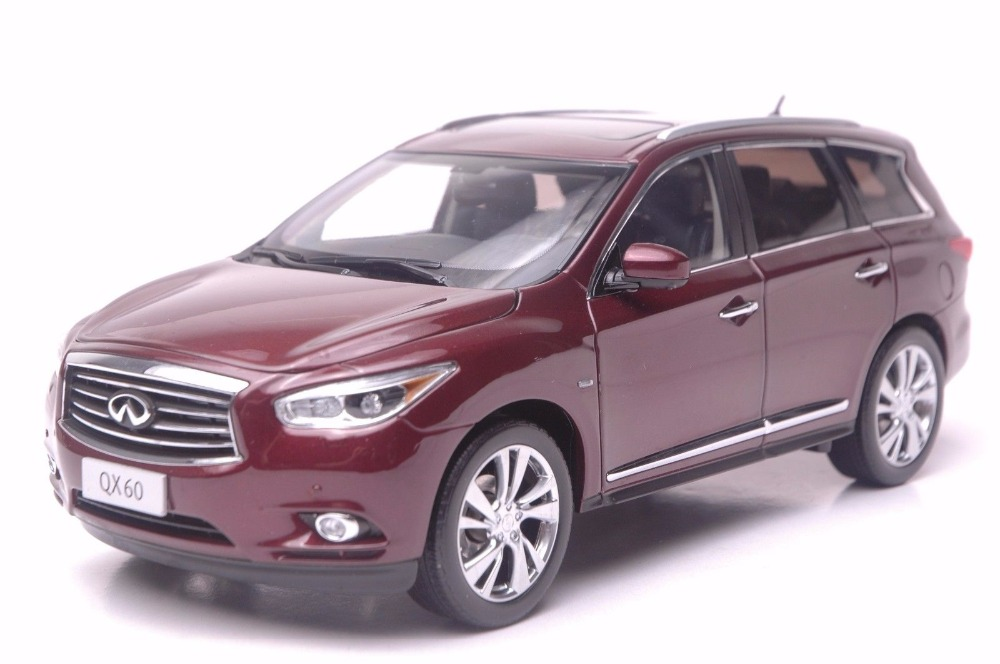 1:18 Diecast Model for Infiniti QX60 2014 Red SUV Alloy Toy Car Miniature Collection Gift FX50 FX 1 18 vw volkswagen teramont suv diecast metal suv car model toy gift hobby collection silver