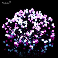 Tanbaby 220V EU/US/UK Plug 3M 400 Milky Ball Rattan Branch LED String Light For Party Garden Home Christmas Decoration