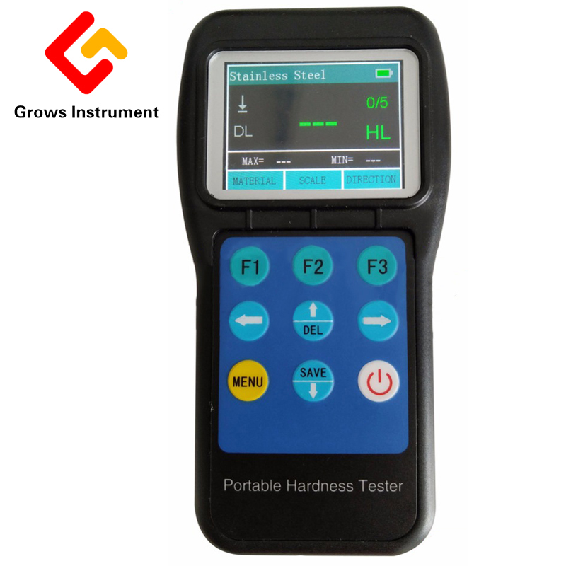 KH190 Real color LCD display Portable Hardness Tester Price with custom materials function HL HB HRB HRC HRA HV HS Durometer|portable hardness tester|hardness tester|hardness tester price - title=