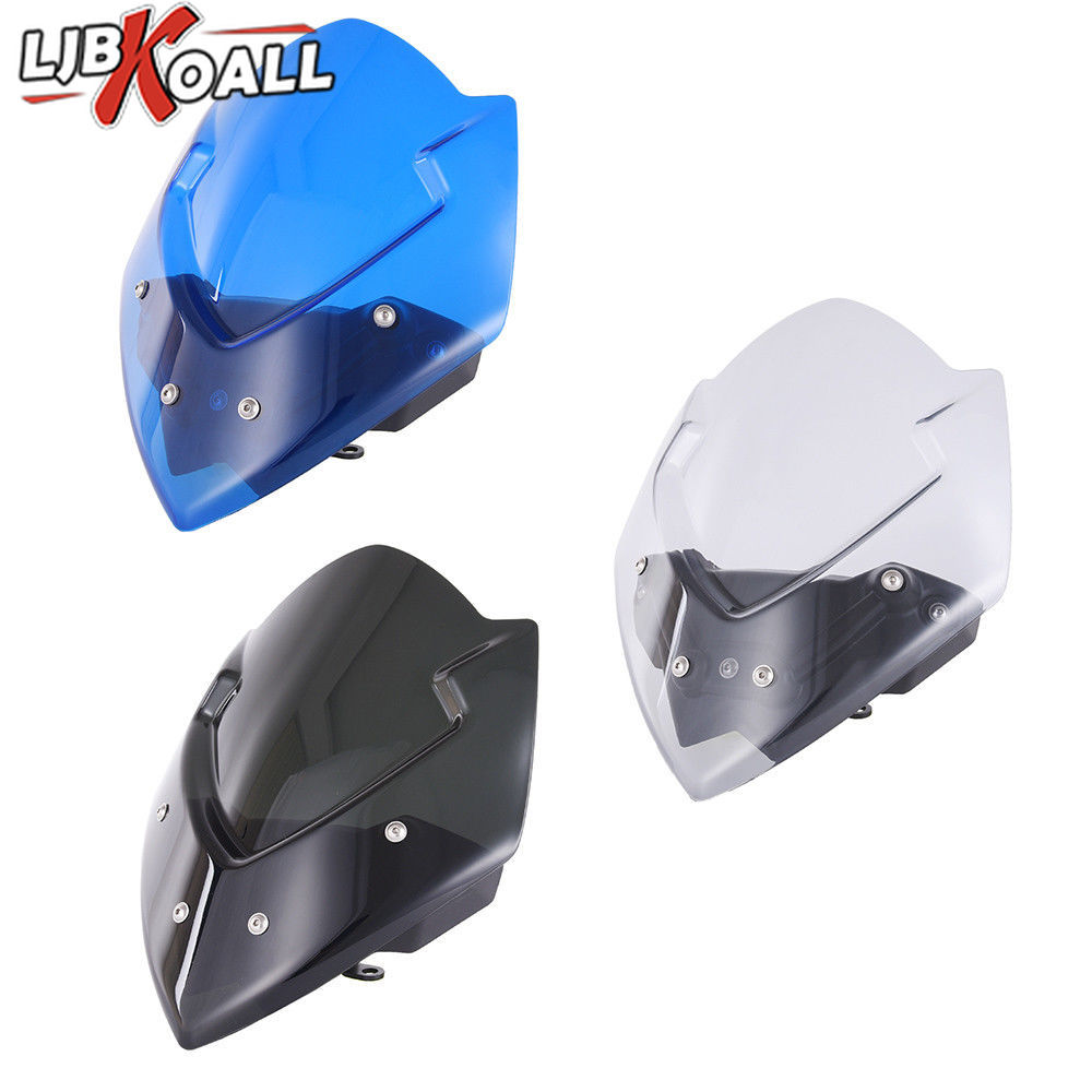 ABS Motorcycle Windscreen Windshield Shield Screen For Suzuki GSX S1000 GSXS 1000 2016 2017 2018 2019