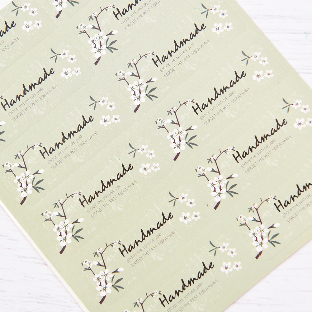 60PCS/lot Fresh Style Flower Hand Made Seal Sticker High Quality Handmade Gift Label Sticker