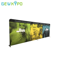 20ft*7.5ft High Quality Tension Fabric Straight Backwall Display,Tradeshow Portable Aluminum Backdrop Stand With Banner Printing