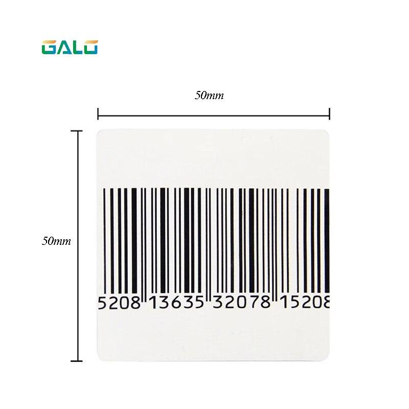 Étiquette souple EAS RF 50*50mm pâte autocollante transparente blanche sur les produits