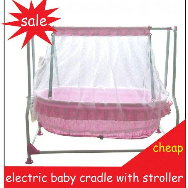 Comparar Bebé marco de acero Cunas música cama bebé cama abatible ...