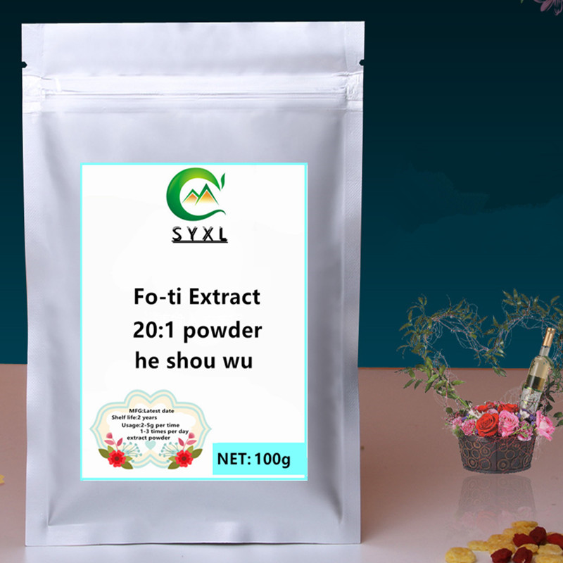 100g-1000g High Quality Polygonum Multiflorum Extract Fo-ti Extract Powder He Shou Wu