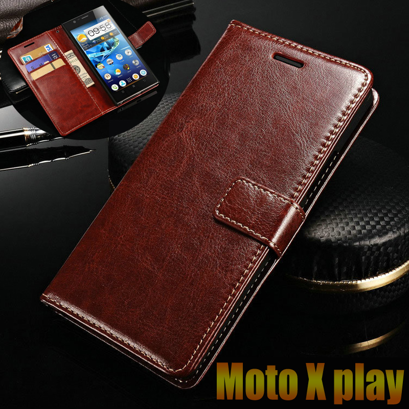motorola Moto X play case cover luxury leather flip Phone Bags for X3 Lux XT1562 XT1563 Business wallet Phone Bags Case cover