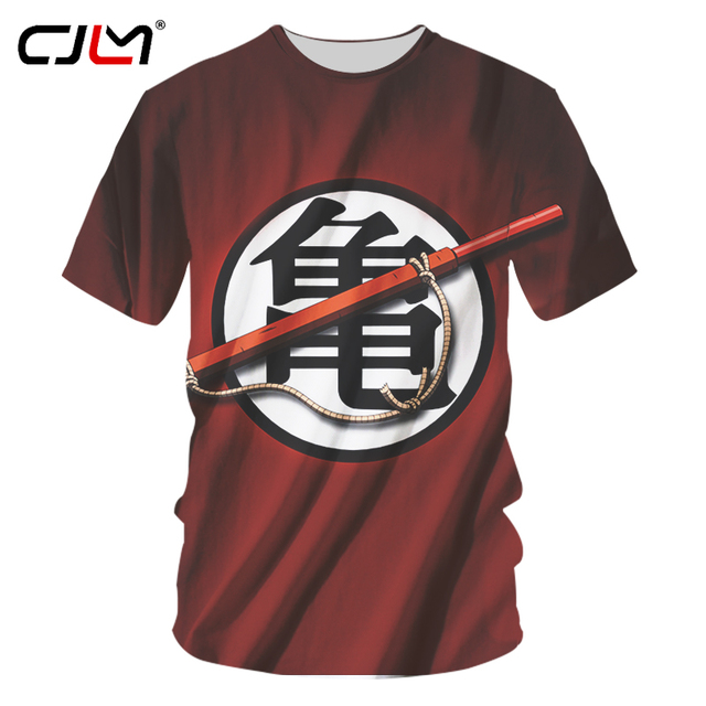 8daec2ca4 CJLM Goku's Train Men's T Shirt Dragon Ball Z Anime Kame Symbol Funny Adult  Top Tee Graphic Printed Red t-Shirt Plus Size 7xl
