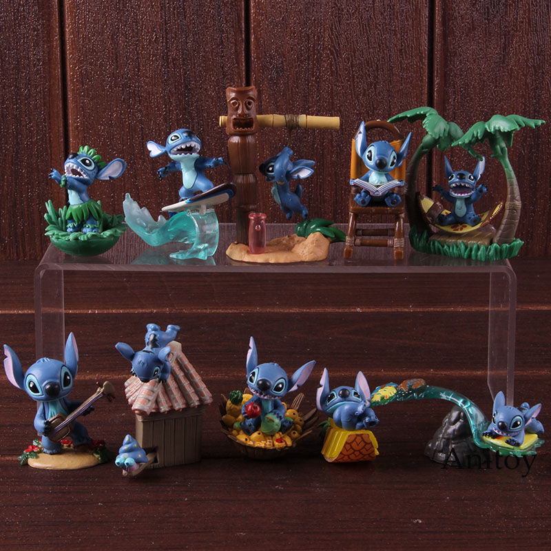 Image 2 - Cartoon Figure Lilo and Stitch Action Figures PVC Collectible Model Toys Lilo Stitch Christmas Birthday Gifts for Kids 5pcs/setAction & Toy Figures   -