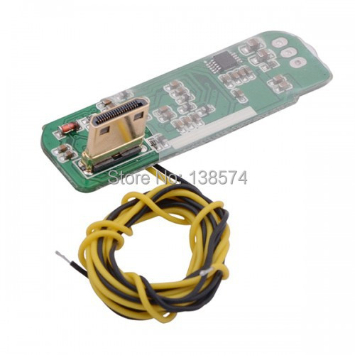 RCD3015S Mini FPV HDMI to AV Converter Module Digital to Analog Converter Board with Connecting Cable for Camera Free Shipping