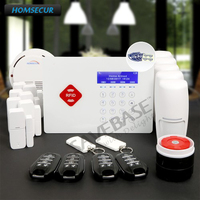 HOMSECUR App Controlled Wireless GSM LCD Alarm System with Real time Monitoring and Interaction+Shipping from Russian Warehouse