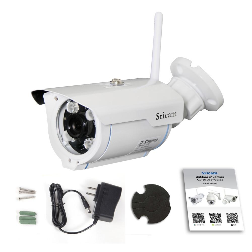 bilder für Sricam cctv monitor und display 720 p hd wifi onvif 2,4 p2p wasserdichte Vandalproof Unterstützung 128G Tf-karte 15 mt IR Outdoor Ip-kamera