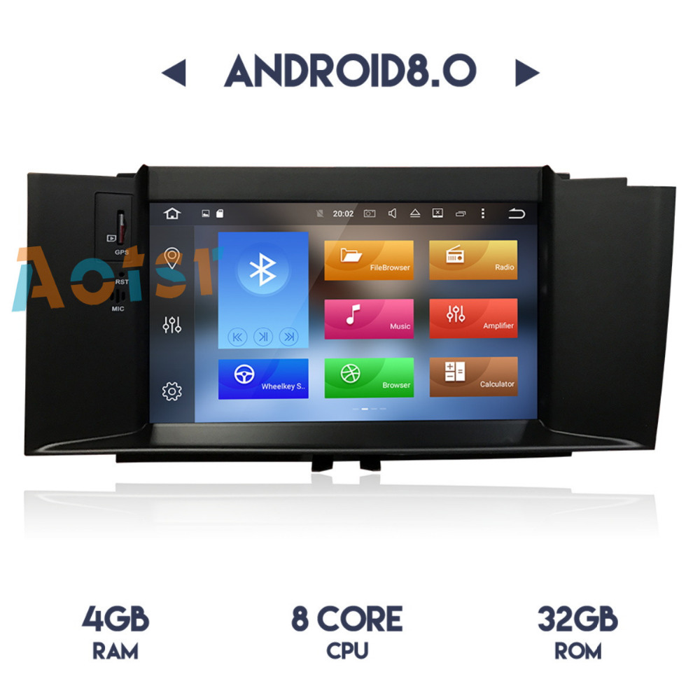 1 Din Newest 8 Core Android8.0/4 Core 7.1 Car Radio GPS Car No DVD Player Auto Stereo Headunits For Citroen C4 C4L DS4 2012 2016