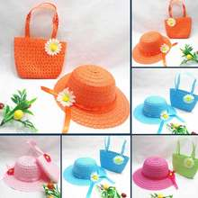 1a140a6512c Super Cute Baby Girls Summer Hats Kids Straw Fedora Hats Boys Girls  Breathable Cap Blue