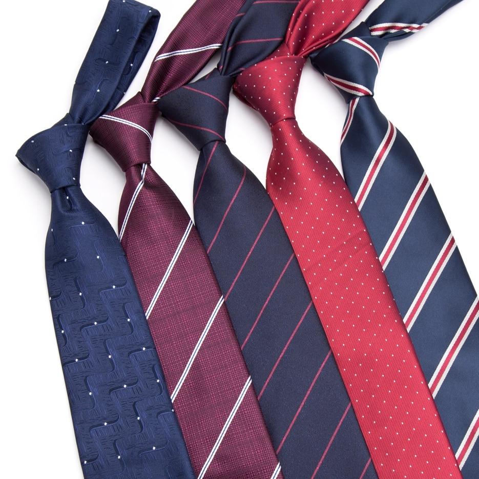 Men Tie Business 8CM Striped Necktie Mens Wedding Parties Dress Jacquard Ties  Bowtie Cravats Accessories Gravatas Para Homens