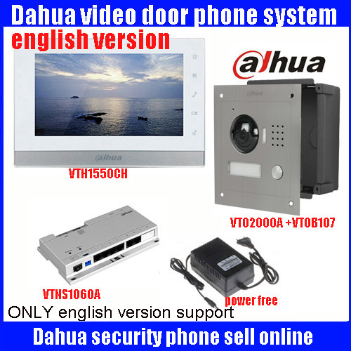 Original 7 Inch Touch Screen Dahua DHI-VTH1550C Color Monitor with TO2000A outdoor IP Metal Villa Outdoor Video Intercom sysytem original 7 inch touch screen dahua dh vth1550ch color monitor with to2000a outdoor ip metal villa outdoor video intercom system
