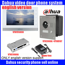 Original 7 Inch Touch Screen Dahua DHI-VTH1550C Color Monitor with TO2000A outdoor IP Metal Villa Outdoor Video Intercom sysytem