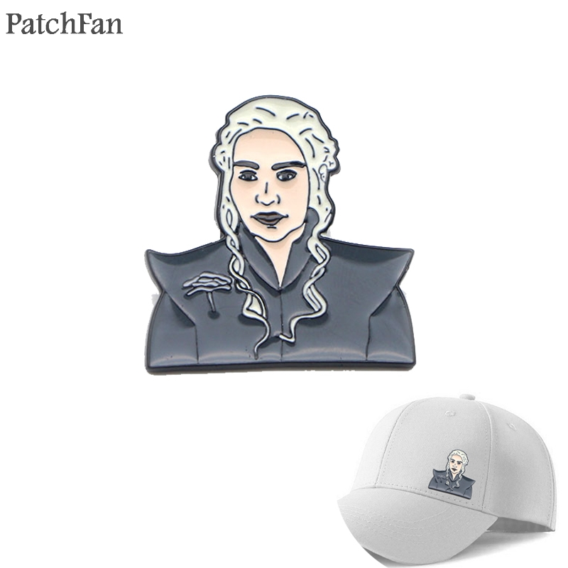 88cd5affdfde Patchfan Game of thrones Dany Zinc tie cartoon Funny Pins backpack clothes  brooches for men women decoration badges medal A1236 ~ Perfect Sale July  2019