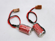 лучшая цена 2pcs/lot New Original Maxell ER3 3.6V 1100MAH Horned PLC Battery Lithium Batteries with Plug Made in Japan