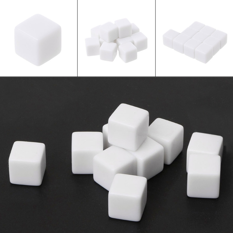10Pcs Blank <font><b>Dice</b></font> <font><b>D6</b></font> <font><b>Dice</b></font> <font><b>12mm</b></font> <font><b>Die</b></font> Six Sided Table Gaming <font><b>Dice</b></font> Blank For Role Playing Toys dropshipping image