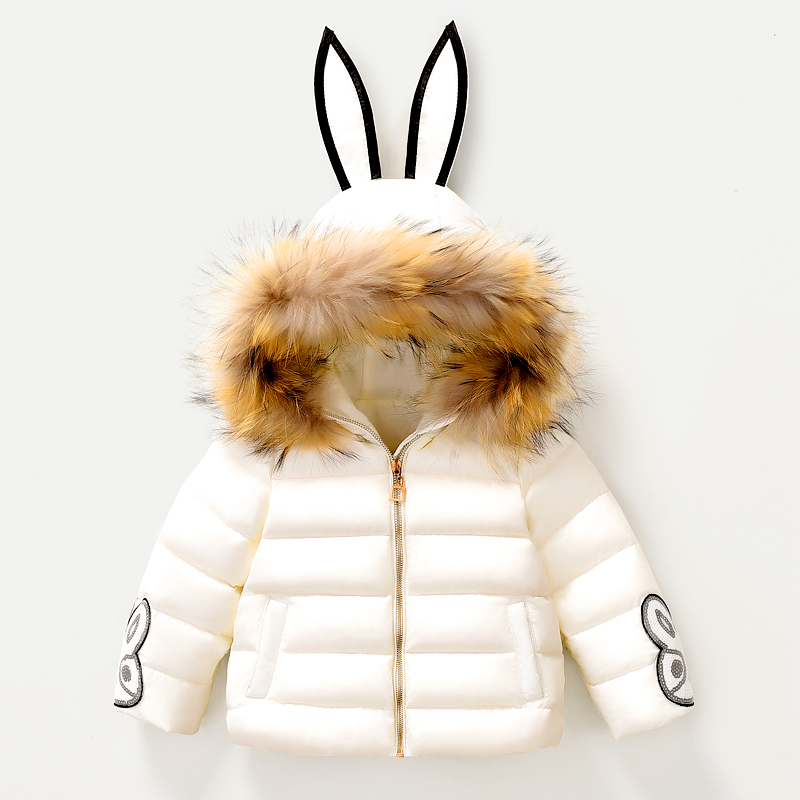 ФОТО Infant Toddler Snowsuit Baby Snow Down Jackets Polar Outerwear Baby Meisjes Winterjas Kids Clothes Padded Coats 70Z029