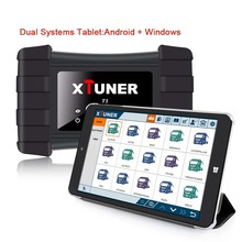 2017 XTUNER T1 Heavy Duty Truck Diagnostic Tool with Airbag DPF ABS Diagnostic for Trucks + 8in Win10 Android Dual OS Tablet