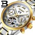 Schweiz BINGER herren uhr luxus marke Tourbillon sapphire leucht mehrere funktionen Mechanische Armbanduhren B8602 6|wristwatch brand|wristwatch mechanismwristwatch mens -