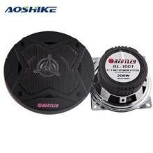 AOSHIKE, 2 шт., 4 дюйма, 2 способа, автомобильный коаксиальный динамик, 4 Ом, 200 Вт, автомобильный динамик, бас, глубокая и сильная сварка, алюминиевый конус, СЧ, мощность