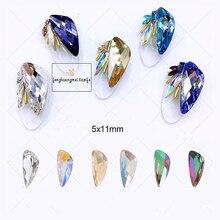 10 шт цветной Кристальный стеклянный Стразы для украшения ногтей, Новое поступление, дизайн крыльев, амулеты, украшения для ногтей YHA150