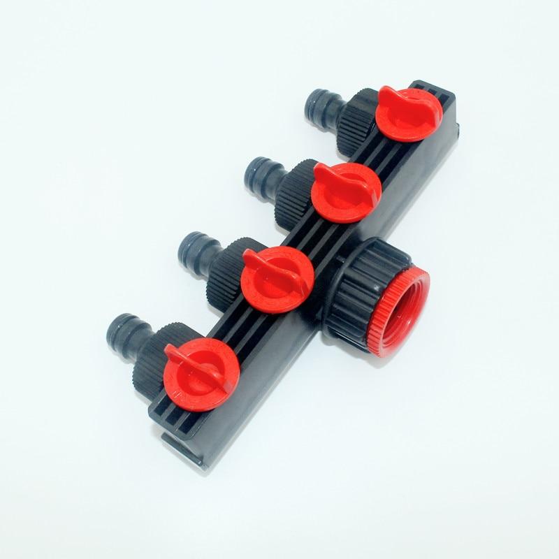 """3/4 """"-1"""" žarnų skirstytuvai Drėkinimo adapteris 4 krypčių vandens žarnų jungtys Europos standartas Moterų sriegio čiaupo jungtys 1 Pc"""