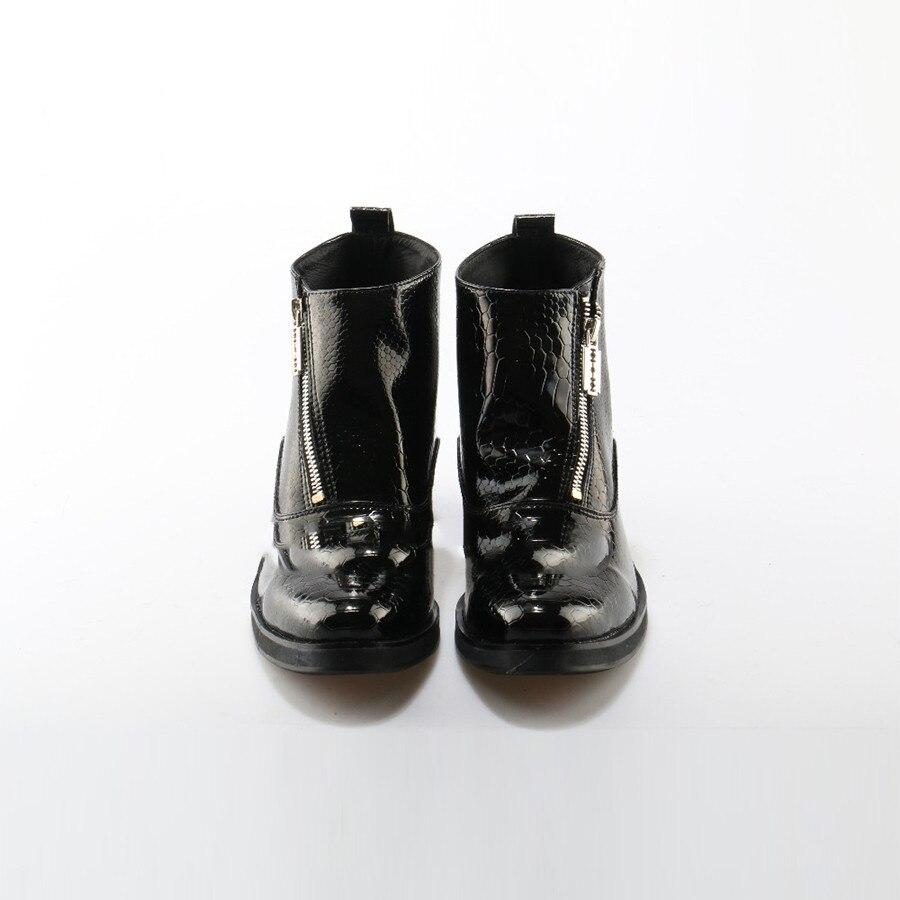 Ankle Homens Estilo Side Boots Moto Britânico Botas Padrão De Casual Cobra Preto Tuziblobo Couro Luxo Moda Zip qdSznqTOx