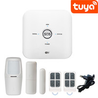 Tuya Smart Life WiFi GSM home alarm system work with Alexa Google Home IFTTT,New arrival Smart security alarm system