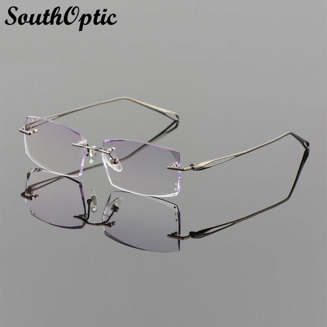 2016 chegada nova óculos miopia incluindo 1.61 Asphereic Tinted EMI UV400 Lens óculos de leitura 75020 titânio puro Frame ótico