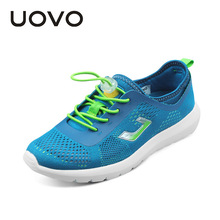 2018 UOVO Boy And Girl Sports Shoes Autumn Spring Boys Girls Mesh Sneakers Summer Breathable Mesh Sneakers Kids Children's shoes цена в Москве и Питере