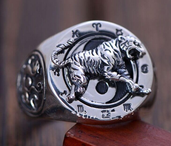 925 sterling silver jewelry personality domineering tiger king of beasts ring925 sterling silver jewelry personality domineering tiger king of beasts ring