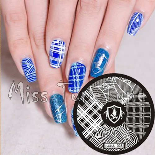 Dahlia Nails Ravenclaw Nail Art: New Stamping Plate Hehe28 HP Ravenclaw Eagle Feather Check