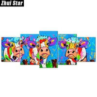 Zhui Star 5D DIY Full Square Diamond Painting Color Painting Multi Picture Combination 3D Embroidery Cross