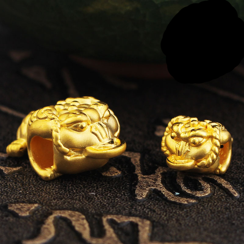 цена на New Arrival 999 24K Solid Yellow Gold Bracelet 3D 999 Gold Toad Bracelet