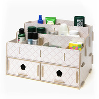 Creative DIY Storage Box Wooden Storage Boxes Multifunctional Desk Organizer Wooded Box Makeup Organizer Box Office Organizers