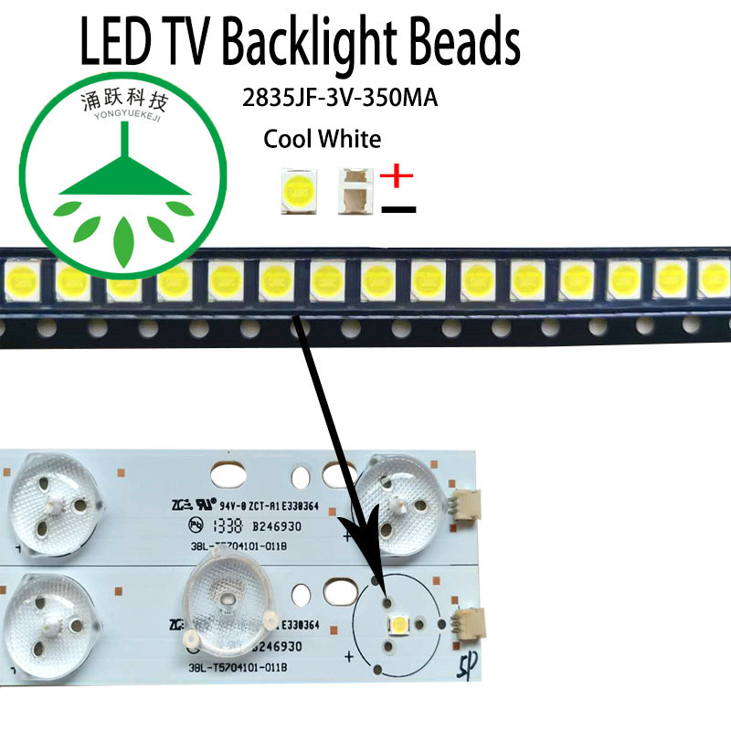 100Pcs 3030 SMD lamp beads 350mA 3V for LED TV Repair//Module Light//Ads Light