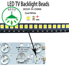 100Pcs/lot new high power led 2835JF 3v 350ma 1w  lamp beads cool white for repair tv lcd backlight bar and strip hot