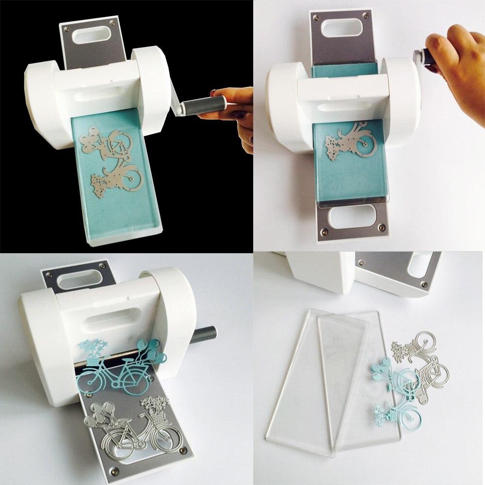 IBOWS Die Cutting Embossing Machine Scrapbooking Cutter Piece Die Cut Paper Cutter Die-Cut Machine Home DIY Embossing Dies Tool
