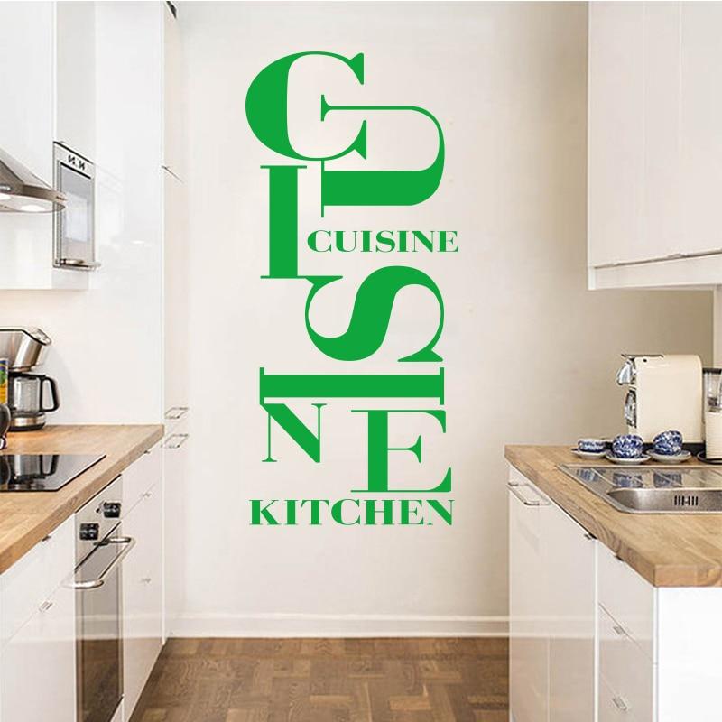 US $10.96  Francese cucina autoadesivo della parete del vinile della  decalcomania della parete carta da parati di carta di arte della cucina  applique ...