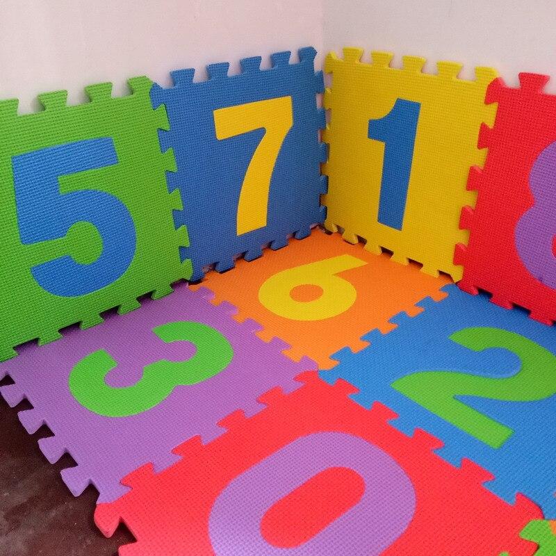 10pcs Pack Kids Eva Foam Mat Baby Puzzle Mat Child Floor