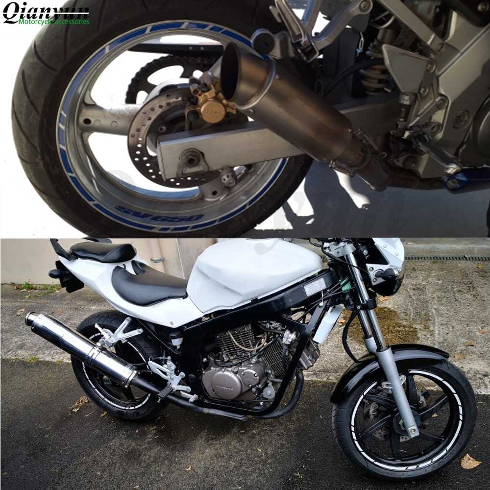 Universal 17-19 นิ้วรถจักรยานยนต์ยางรถสติกเกอร์สะท้อนแสงเทปรูปลอกสำหรับ Yamaha FZ1 FAZER FZ6 FZ6R FZ8 XJ6 MT-07 MT-09 FZ9