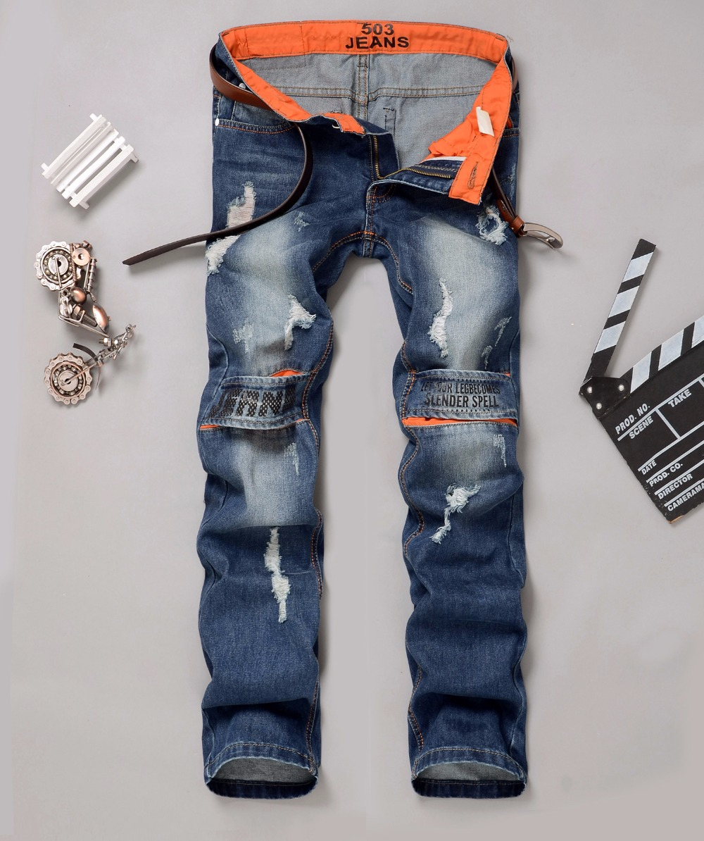 New Patch Designer Mens Long Biker Jeans Hole Men Jeans Ripped Denim Slim Fit Classic Hip Hop Casual Punk Cotton Pants fashion mens male pants brand zipper jeans men hip hop pants slim hole patch casual jeans fashiontrouser for men free shipping