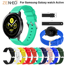 20mm watchbands Silicone For Samsung Galaxy watch Active strap Replacement wristband Gear sport S2 Accessories band