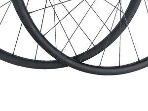 Image 3 - 650B XC 산악 자전거 카본 휠 30mm 후크리스 27.5er 튜브리스 휠셋 3K UD 12K 블랙 레드 실버 블루 그린 골드 니플